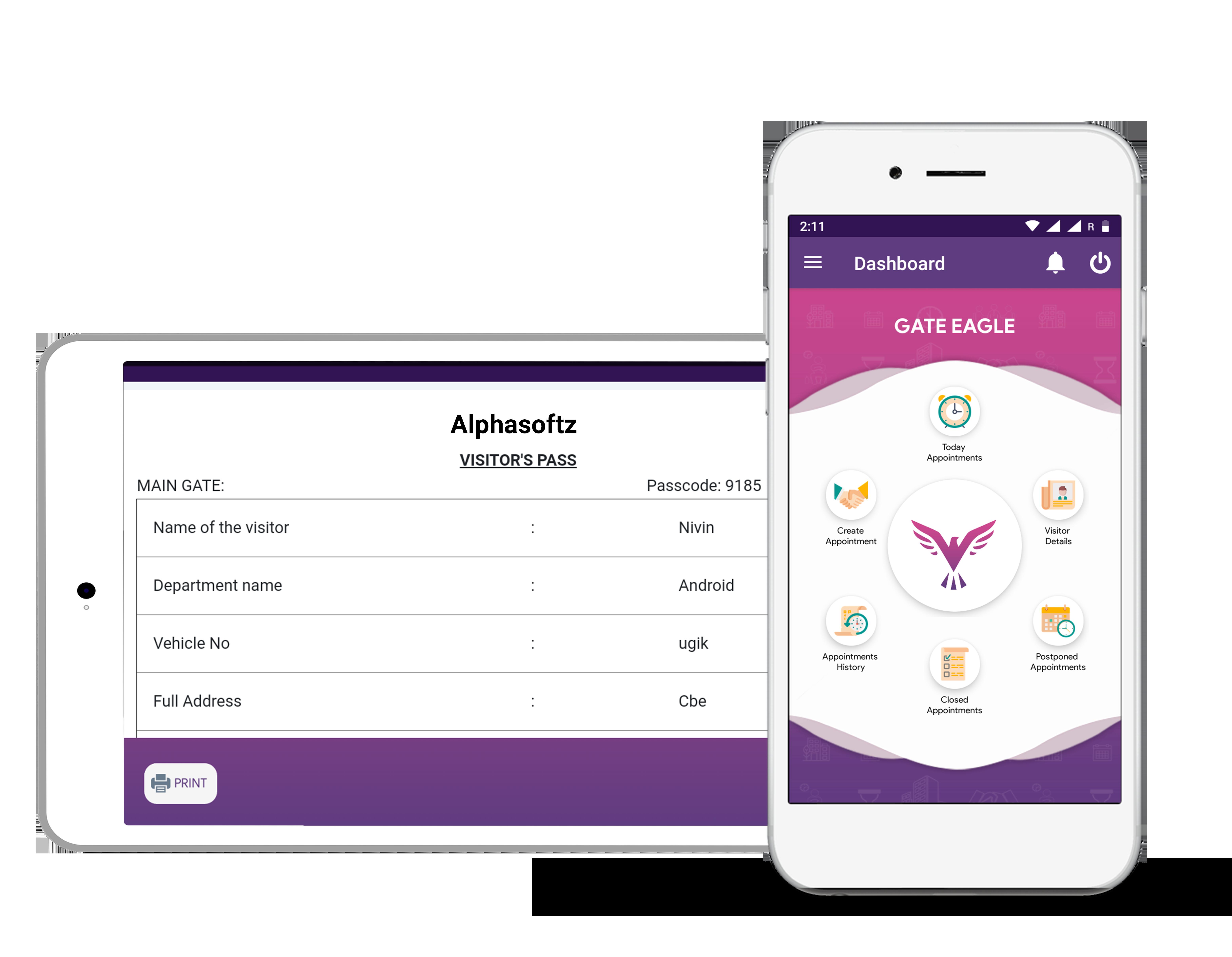 Gate eagle - Visitor management system app
