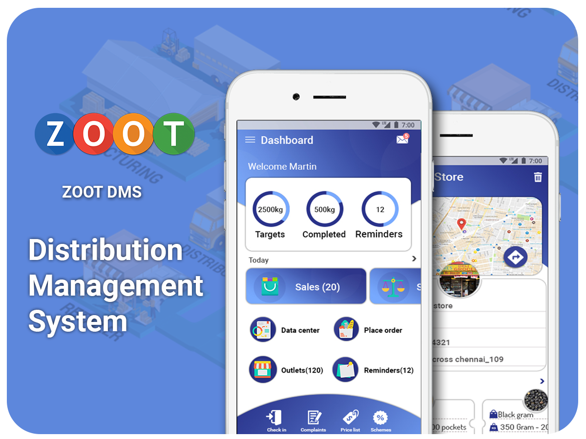 Distribution management system - ZOOT DMS