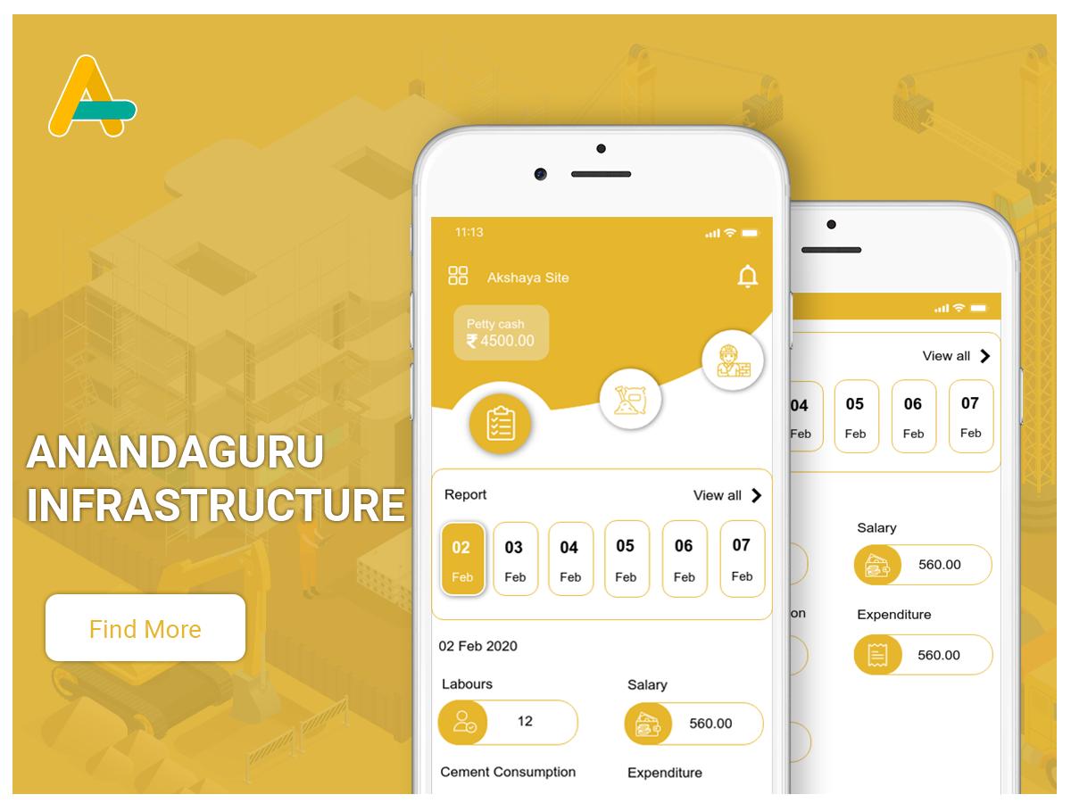 Anandaguru - construction management app - AlphasoftZ