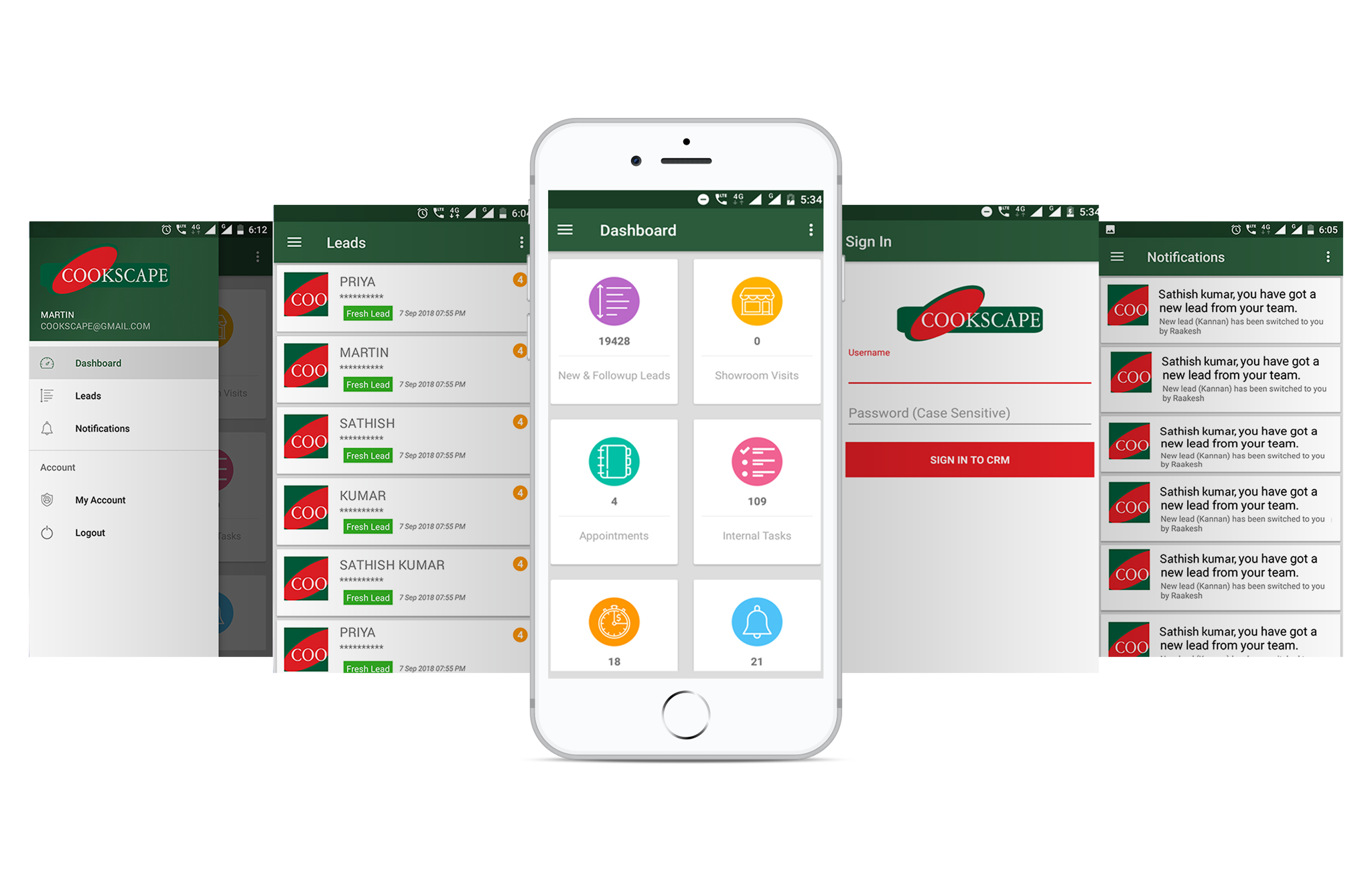 Cookspace CRM mobile app