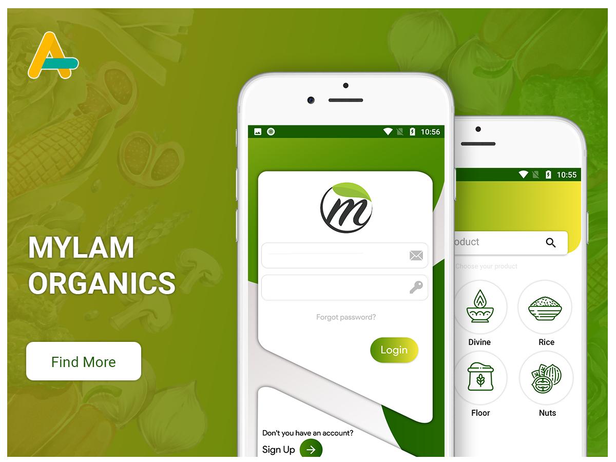 Mylam Organics ecommerce app - AlphasoftZ